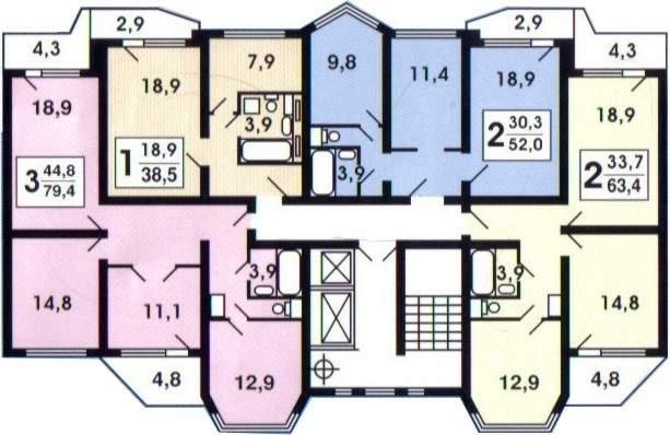 План линейной секции П44Т
